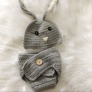 Baby Newborn Knit BUNNY outfit